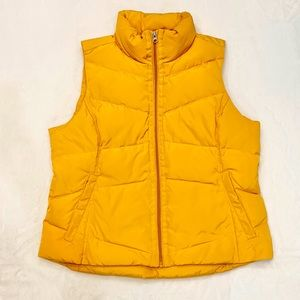 Like new Lands' End kids yellow down vest
